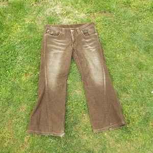 True Religions Mens Joey Distressed Corduroy Pants